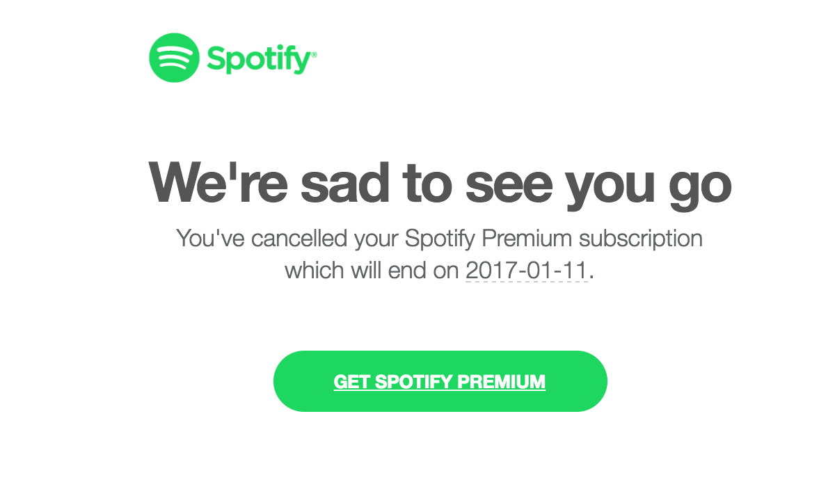 Cancel Spotify Account